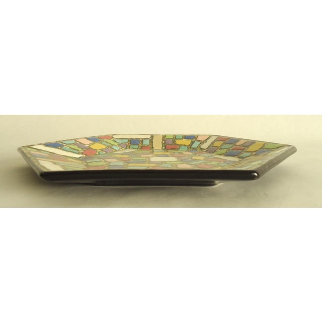 Faux Mosaic Pattern Studio Ceramic Catchall Tray - Image 4 of 5