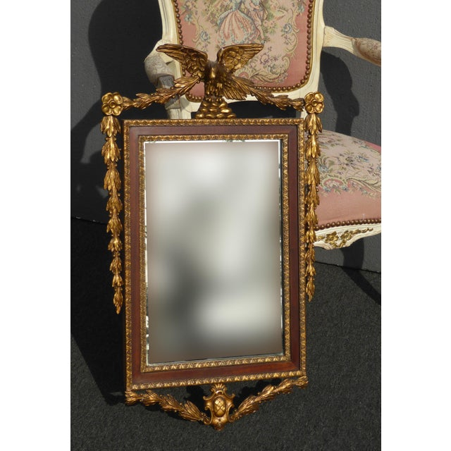 Kind-Hearted French Giltwood Louis Xvi Wall Mirror Circa 1900 Antique Furniture Mirrors
