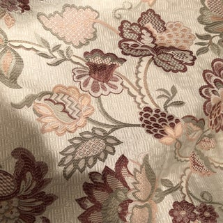 Pinks and Beige Floral Fabric For Sale