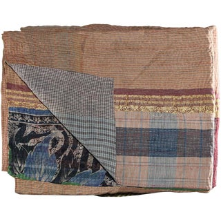 Kantha Blanket For Sale