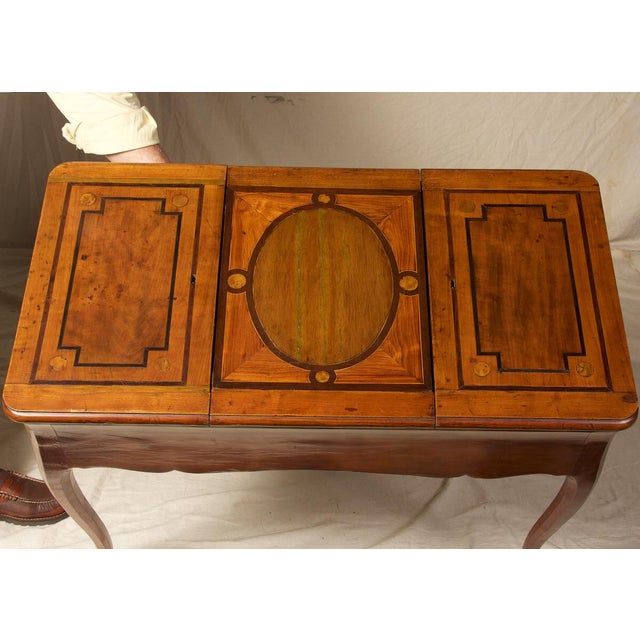 Mid 18th Century 18th C. Louis XV Fruitwood Inlaid Poudreuse Dressing Table For Sale - Image 5 of 9
