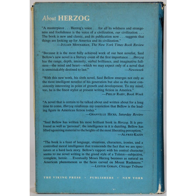 Herzog by Saul Bellow For Sale - Image 4 of 6