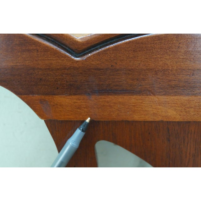 Brown Drexel Heritage Queen Size Cherry Chippendale Style Headboard For Sale - Image 8 of 10