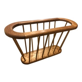 Arthur Umanoff Style Spindle Blonde Magazine Rack For Sale