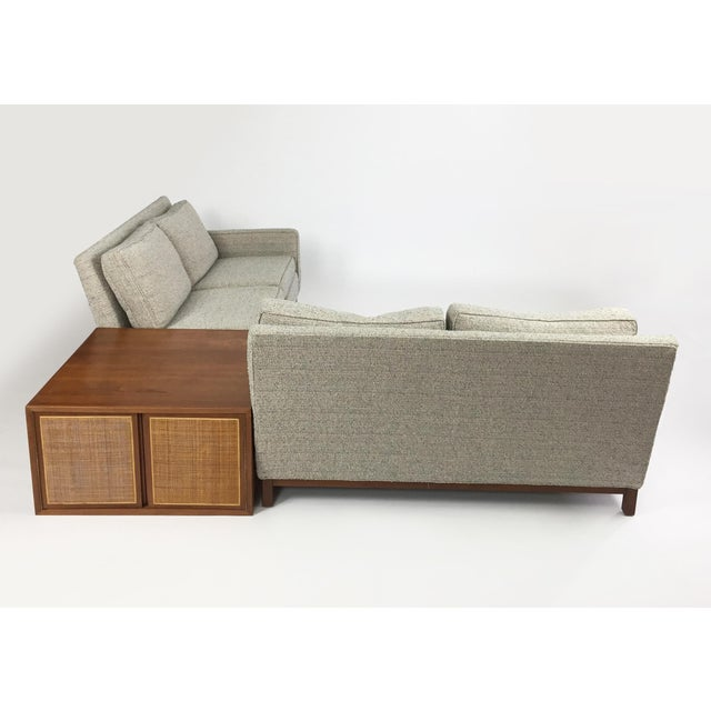 1950s Henredon Sectional Sofa With Corner Storage Case For Sale - Image 5 of 9