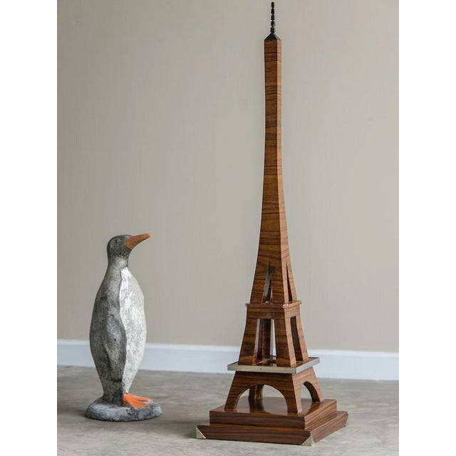 Art Deco Art Deco Period Grand Scale Eiffel Tower of Rosewood, France c.1930 For Sale - Image 3 of 7