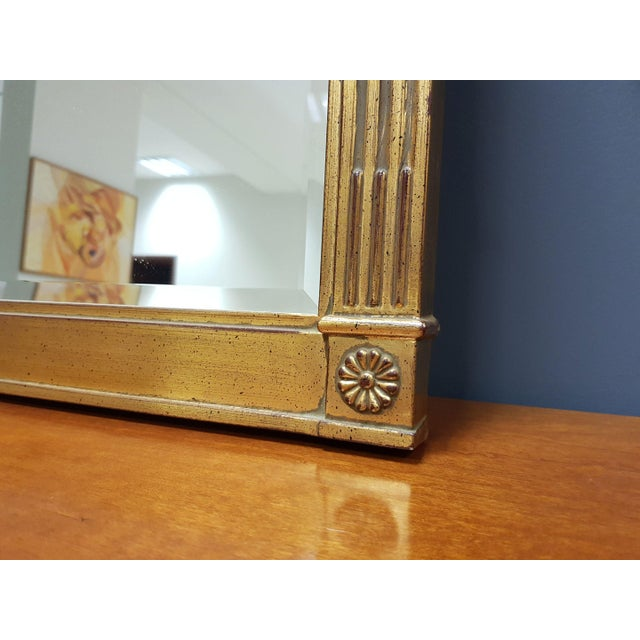 Vintage Rectangular Neoclassical Gilded Wall Mirror For Sale - Image 9 of 13