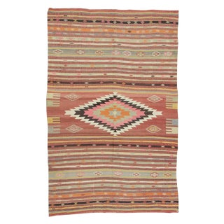 Handwoven Large Turkish Kilim Rug - 7′ × 10′9″ For Sale