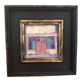 """Main Street, Isleton"" Plein Air Oil Painting For Sale"