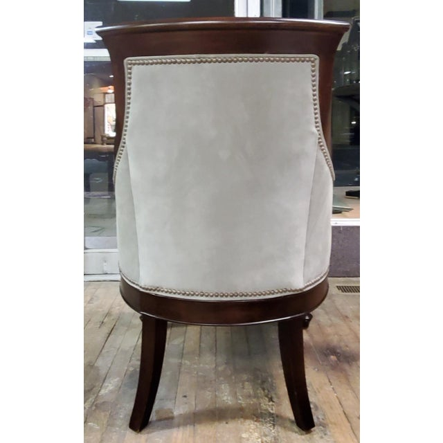 Not Yet Made - Made To Order Thomasville Furniture Ernest Hemingway Anson Tufted & Leather Accent Chair For Sale - Image 5 of 13