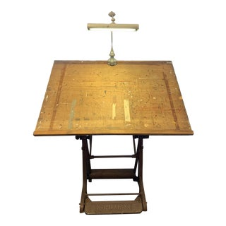 1950s Mid-Century Franz Kulmann Drafting Table For Sale