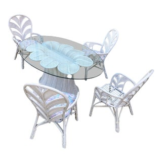 Palm Beach Rattan Flower Shaped Dining Set