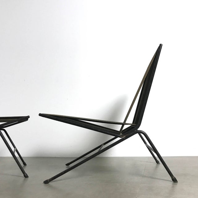 Industrial Allan Gould String Lounge Chair & Ottoman 1952 For Sale - Image 3 of 11