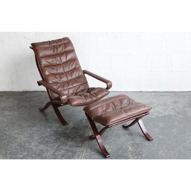 Vintage Mid Century Ekornes Lounge Chair and Ottoman For Sale In Portland, OR - Image 6 of 6