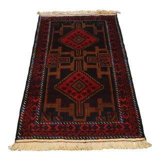 """Afghan Decorative Hand Knotted Rug - 2'10"""" x 4'9"""""""