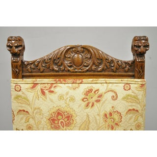 Late 19th Century Antique Carved Oak Renaissance Revival Side Chair Preview