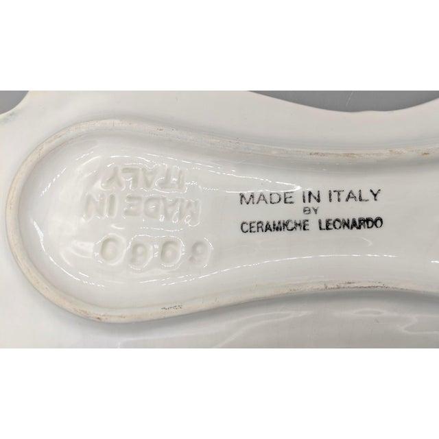 Italian Majolica Ceramiche Leonardo Leek Vegetable Tray For Sale In Houston - Image 6 of 10