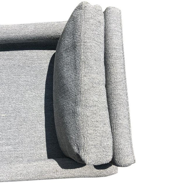 1980s Milo Baughman Mid Century Vintage Gray Parsons Armchair With Cushions by Drexel For Sale - Image 5 of 10