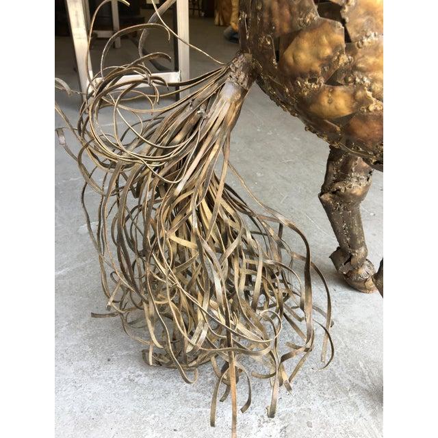 Vintage Bucking Horse Metal Sculpture - Image 9 of 11