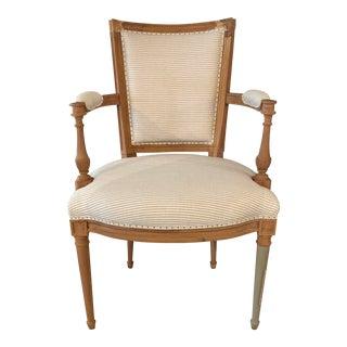 Bunakara Fingerprint Basic Stripes Arm Chair in Laurel For Sale