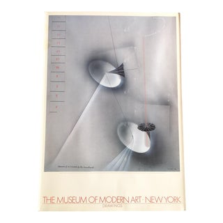 MoMA Man Ray Drawing Poster — Vintage 1984 For Sale