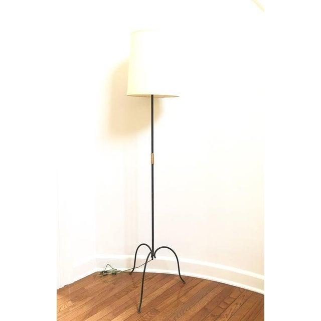 French Metal Tri-Leg Floor Lamp - Image 2 of 8