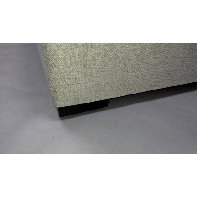 Upholstered Ottoman with Hidden Casters in Dedar Fabric For Sale - Image 4 of 8