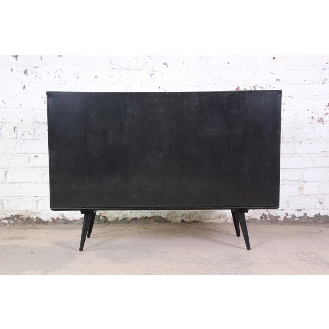 Paul McCobb Black Lacquered Planner Group Six-Drawer Dresser For Sale - Image 11 of 12