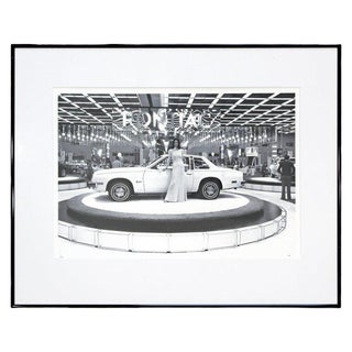 Mid-Century Modern Detroit Auto Show Framed Photograph Signed Bill Rauhauser For Sale