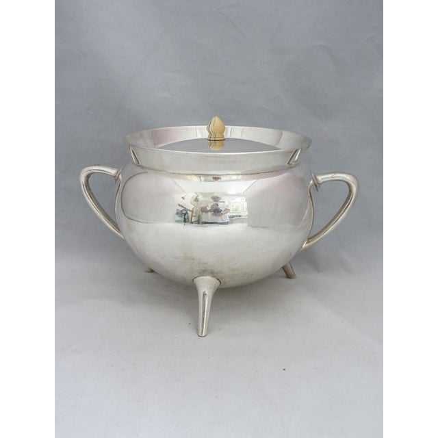 1950s Mid Century Walker & Hall Silver Soup Tureen For Sale - Image 5 of 8