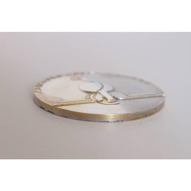 Machine Age Art Deco Raymond Loewy Medallion, Abbott Labs 50th Anniversary For Sale - Image 10 of 11