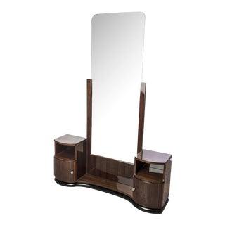 Art Deco Burl Macassar Vanity & Mirror