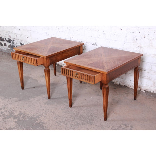 Baker Furniture Milling Road French Regency End Tables, Pair For Sale In South Bend - Image 6 of 12