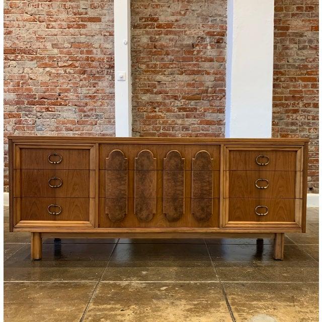Mid Century Modern - Custom 1960's Burl Wood Dresser For Sale - Image 11 of 11