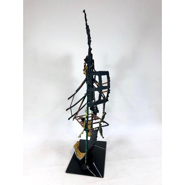 Zak Zaikine 1980s Zaikine Folk Art Signed Metal Sculpture For Sale - Image 4 of 13