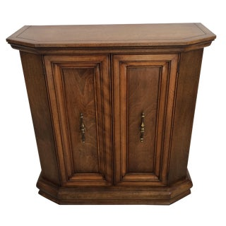 Vintage Wooden Hall Cabinet For Sale