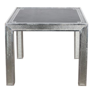 Mid-Century Modern Silver Leaf Center Table For Sale
