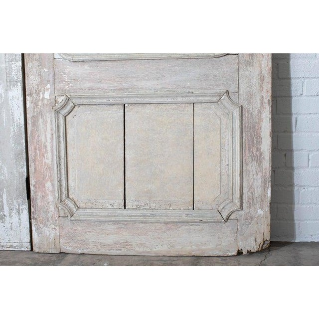 Metal Rustic Pair of 19th Century French Painted Panel Doors For Sale - Image 7 of 13
