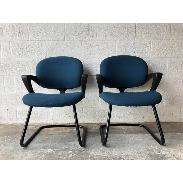 Vintage 1990s Herman Miller Avian Sled Base Side Chairs (A Pair) For Sale - Image 13 of 13