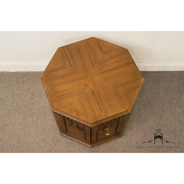 American of Martinsville American of Martinsville Octagonal Storage End Table For Sale - Image 4 of 10