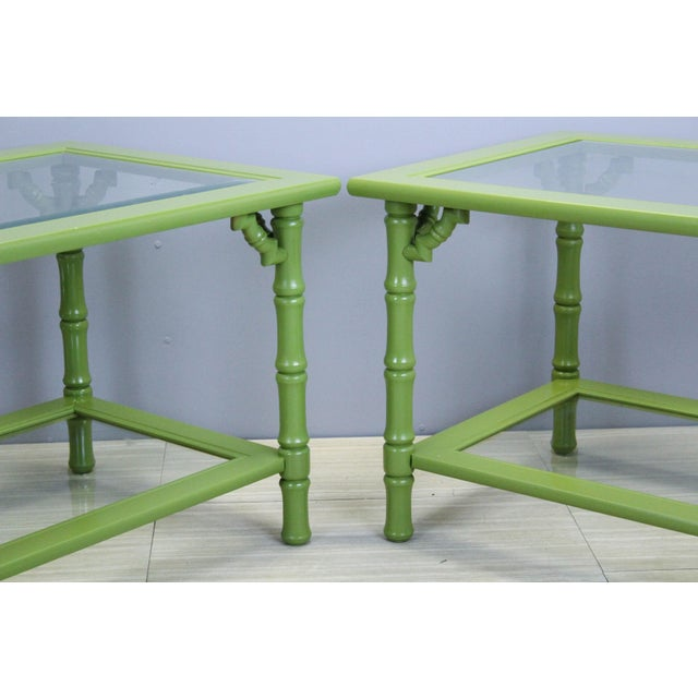 Green Lacquered Side Tables - A Pair For Sale In Miami - Image 6 of 9