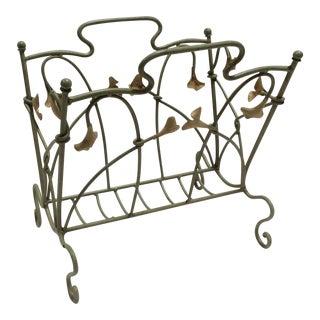 Art Nouveau Style Magazine Rack