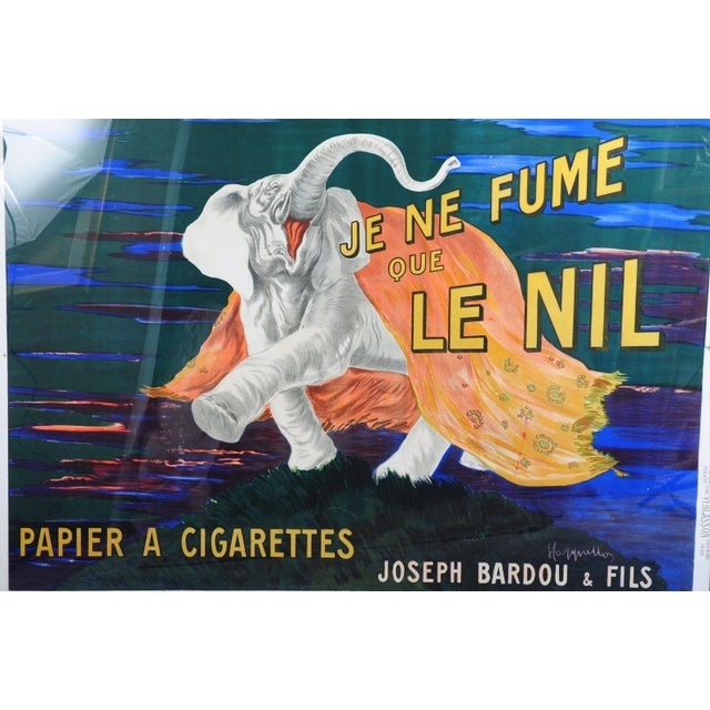 1920s Je Ne Fume Que Le Nil-Original 20s Elephant Poster For Sale - Image 5 of 10