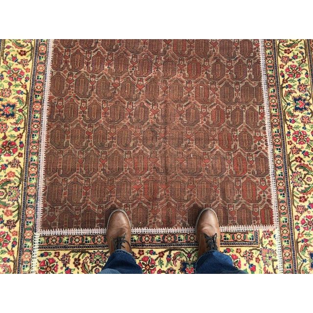 "Islamic Vintage Turkish Patchwork Rug - 5'5"" X 8'10"" For Sale - Image 3 of 11"