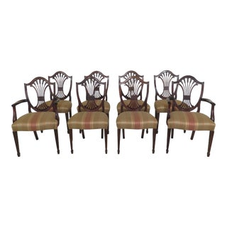 Stickley Shield Back Mahogany Dining Room Chairs - Set of 8 For Sale