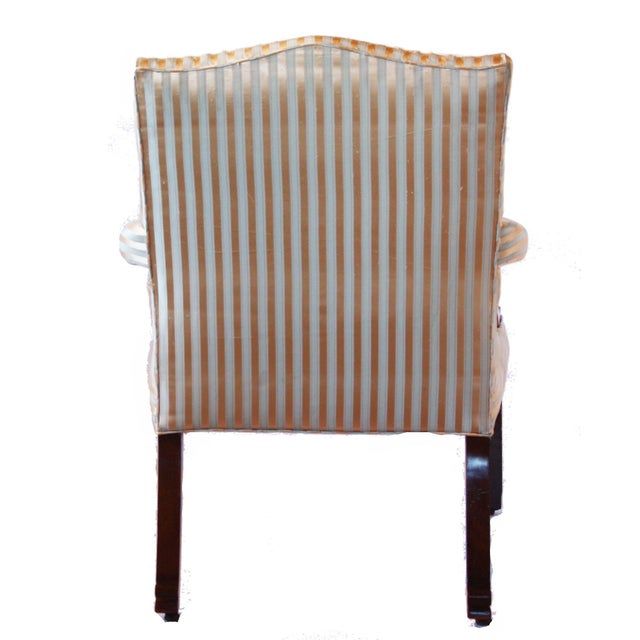 George II Mahogany Library Armchair For Sale - Image 4 of 7