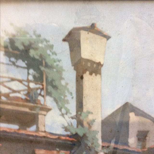 """""""Courtyard in Florence"""" by George Scott Ingles - Image 3 of 8"""
