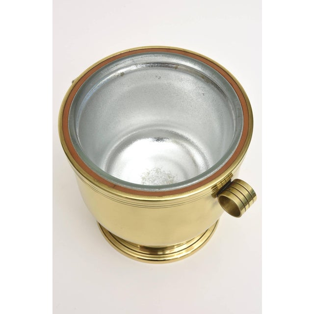 Brass Classic Tommi Parzinger Polished Brass Ice Covered Ice Bucket For Sale - Image 7 of 9