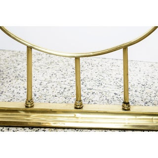 Brass and Red Leather Fireplace Surround Preview