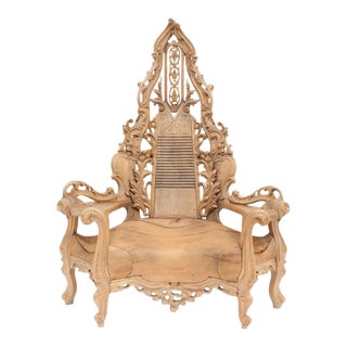 Impressive One-of-a-kind French Throne Chair For Sale